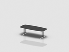 SWITCH barrel shaped meeting table 250x110 cm