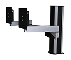 4140-B Monitorpole with dual extension arm for 2 monitors